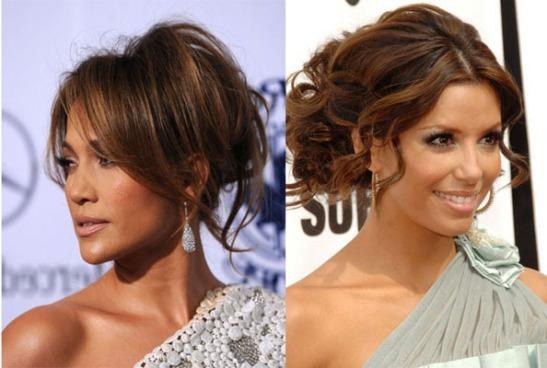 Eva Longoria&Jennifer Lopez Messy Hairstyle
