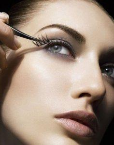 Applying False Eyelashes