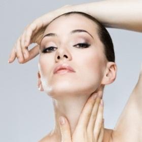 A Woman Doing Facial Exercises
