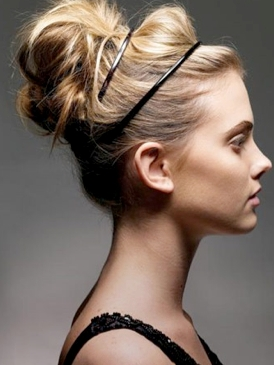 Banded Up-Do Hairstyle